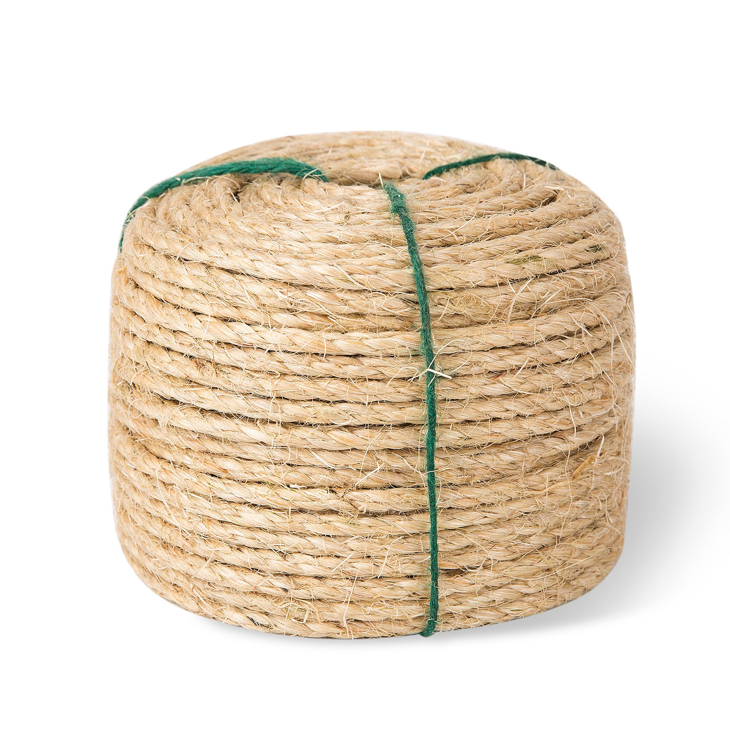 Yangbaga Cat Scratching Post Sisal Rope Replacement - 1/4 Inch - Natural Fiber and Color 164FT