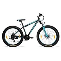 Frog Region X 3.0 26 Inches 21 Speed Front Suspension Dual Disc Brake Fat Tyre Bike for Adults Black & Turquoise