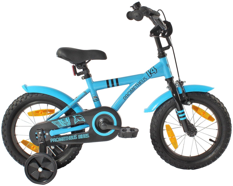 prometheus kids bike 14 inch boy bike in colour blue u0026 black with