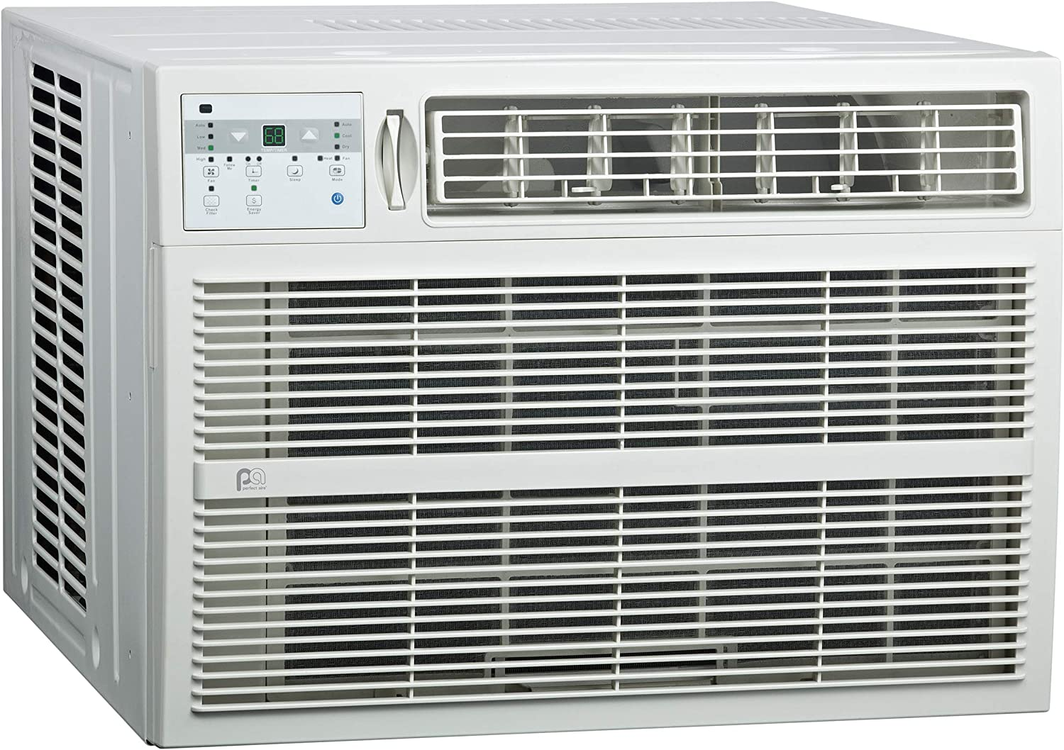 PerfectAire 3PACH18000 18,500/18,200 BTU Window Air Conditioner with Electric Heater, 208/230V, 700-1,000 Sq. Ft. Coverage