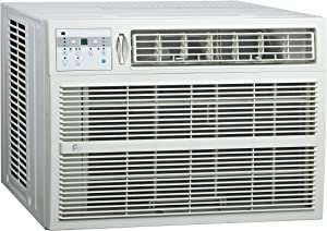 PerfectAire 3PACH25000 25,000/24,700 BTU Window Air Conditioner with Electric Heater, 1,400-1,500 Sq. Ft. Coverage
