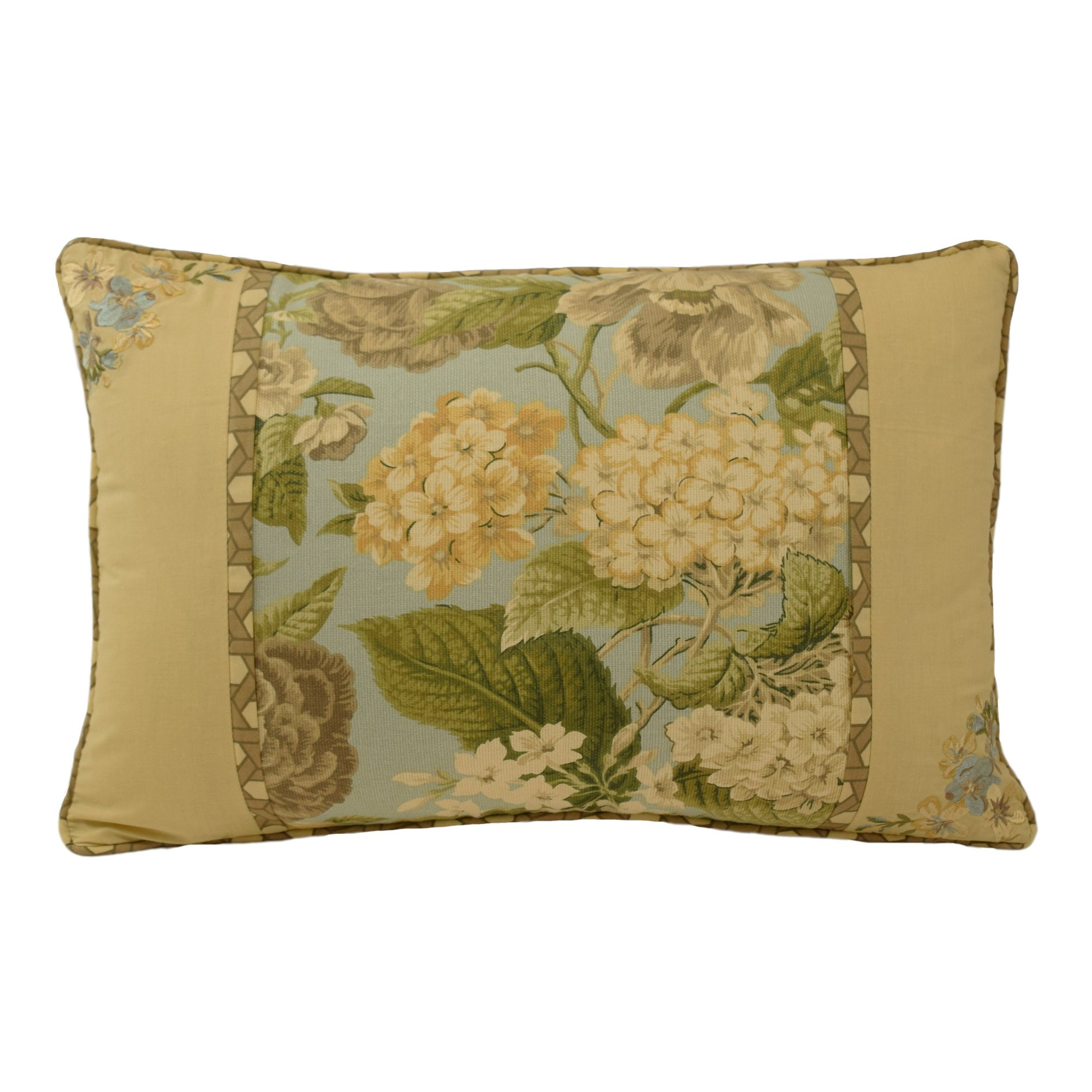 Waverly Garden Glory Decorative Pillow, 20''x14'', Mist