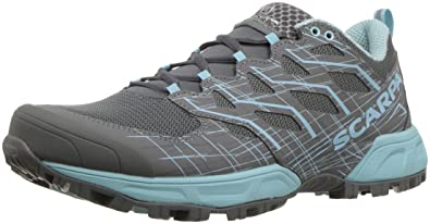 SCARPA Womens Neutron 2 Trail Running Shoe, Grey/Blue Radiance, 37 Medium EU