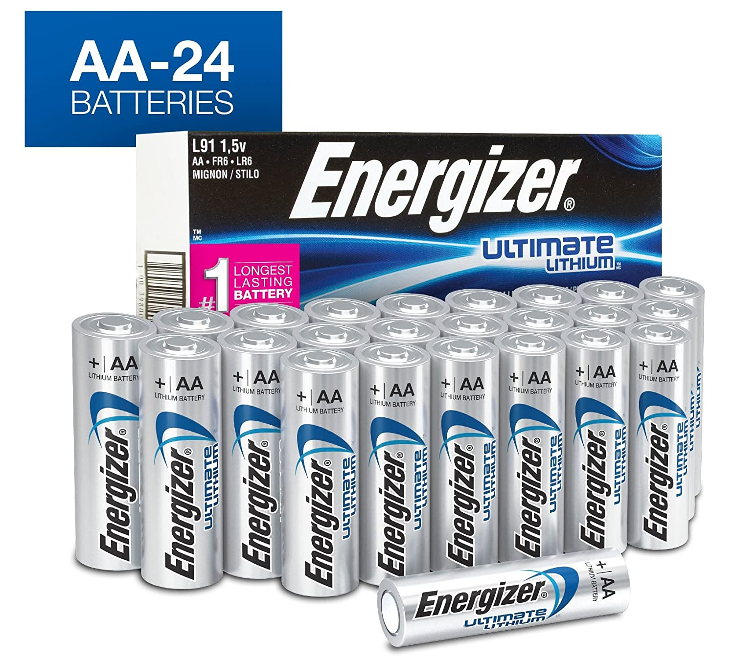 Energizer Aa Lithium Batteries Ultimate Double A Battery 24 Count