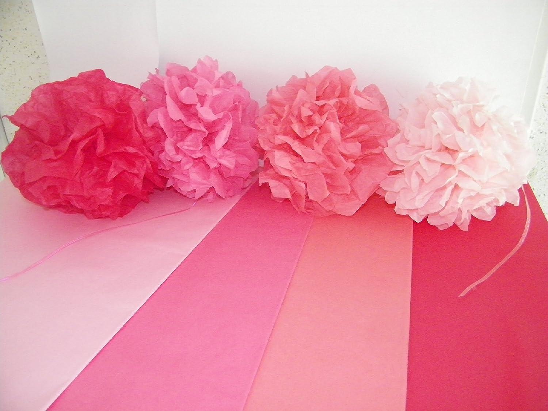 96fogli di carta velina, tema rosa, formato 50x 75cm 96fogli di carta velina formato 50x 75cm Rdie