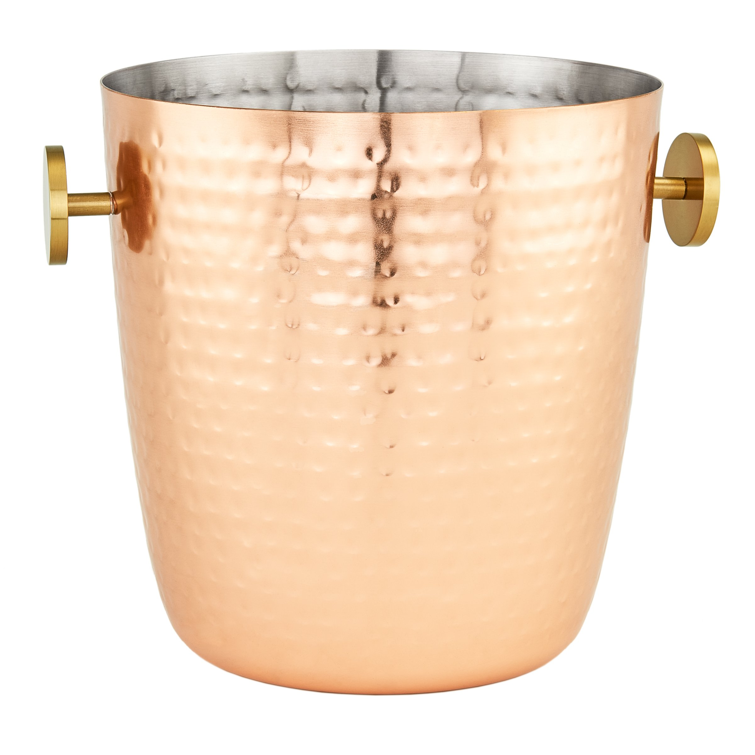 """Aura"" Hammered Copper Champagne Bucket, 5 Qt."