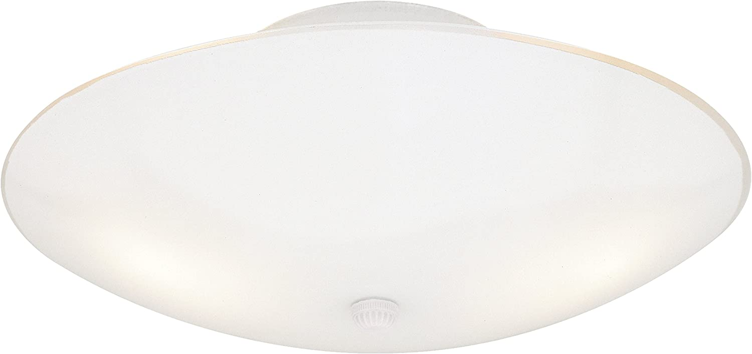 Westinghouse Lighting 66242 Westinghouse 6624200 Two-Light Semi-Flush-Mount Interior Ceiling Fixture, Finish with White Glass