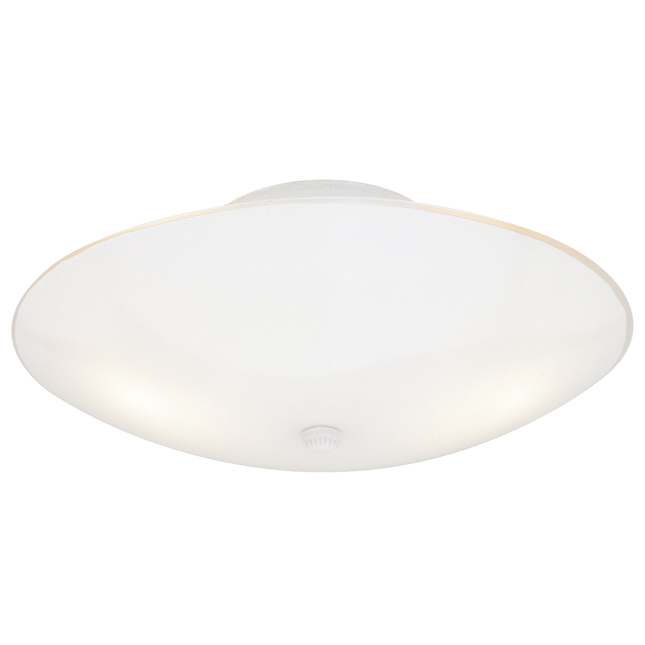 Westinghouse 6624200 Two-Light Semi-Flush-Mount Interior Ceiling Fixture, White Finish with White Glass