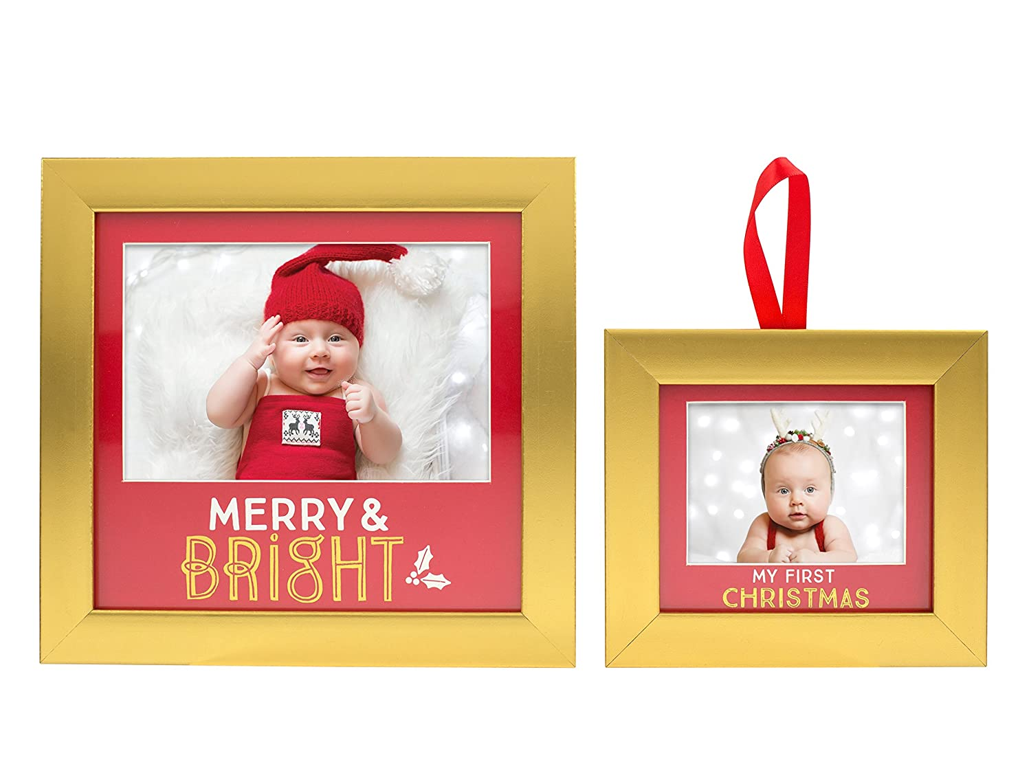 Amazoncom Lil Peach Babys First Christmas Frame Ornament