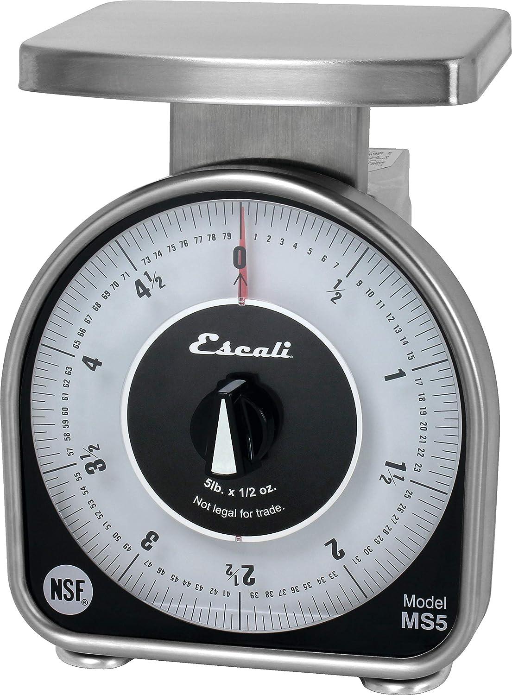 San Jamar SCMDL5 Mechnical Dial Food/Kitchen Scale, 5 lb Capacity
