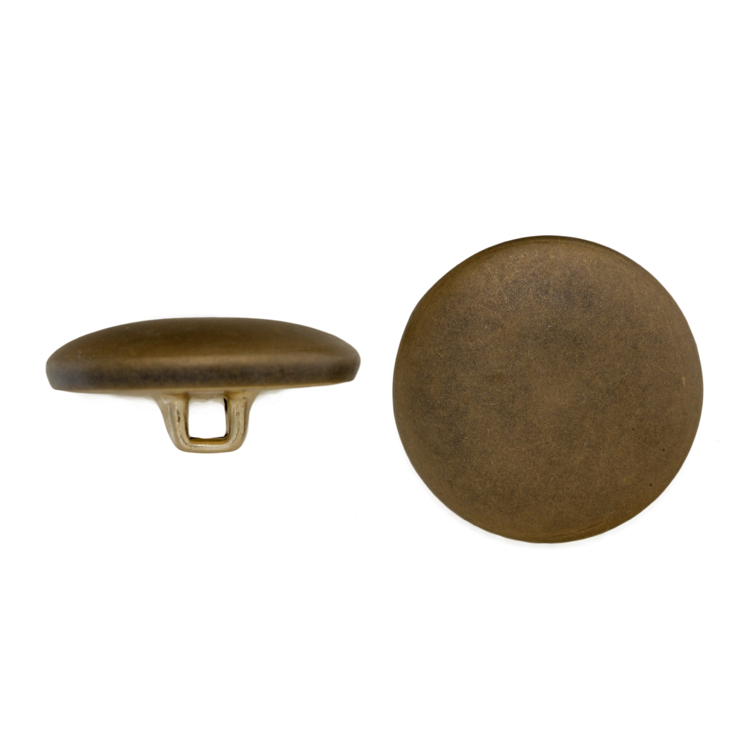 C&C Metal Products Corp 5003 Half Dome Metal Button, Size 20, Colonial Gold Finish, 72-Piece
