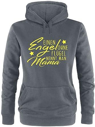 EZYshirt® Ein Engel ohne Flügel nennt man Mama Damen Hoodie