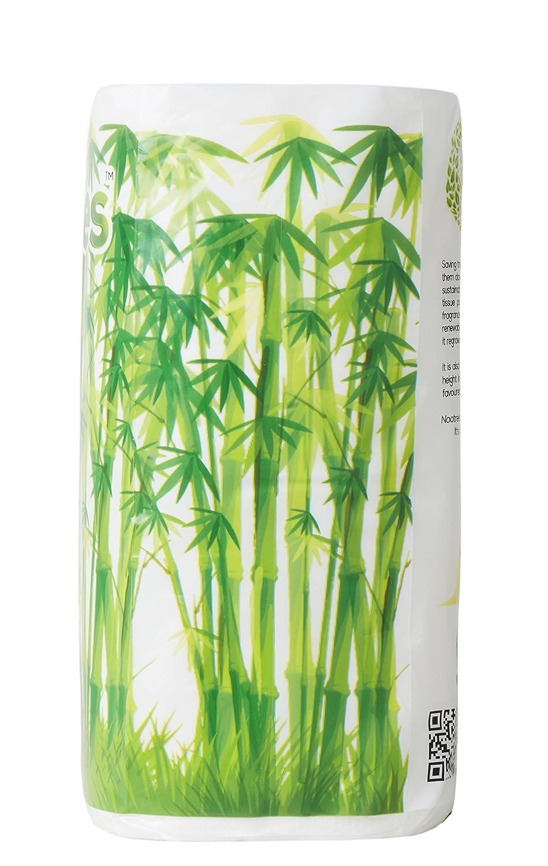 Amazon.com: nootrees baño rollo de 4 de seda 3 capas/300 ...