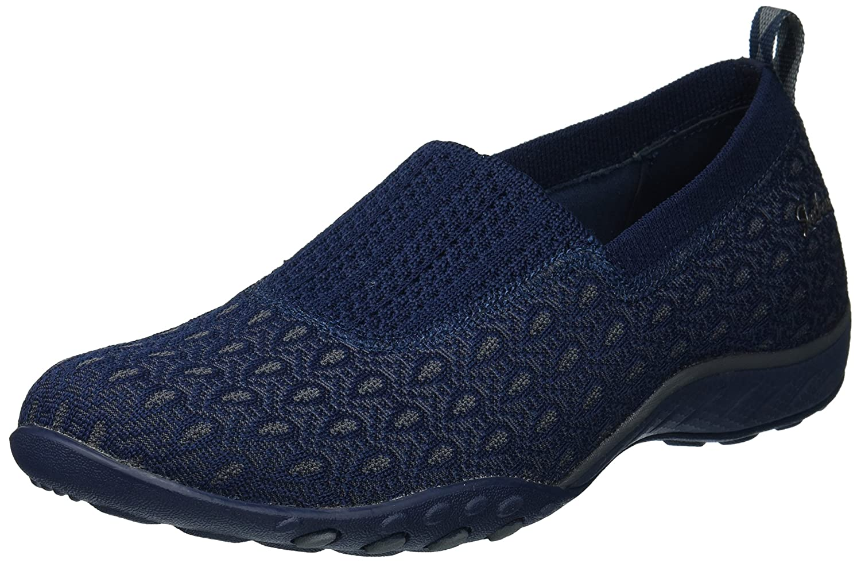 Skechers Women's Breathe Easy Nice N Cool Sneaker B07485224W 9.5 B(M) US|Navy