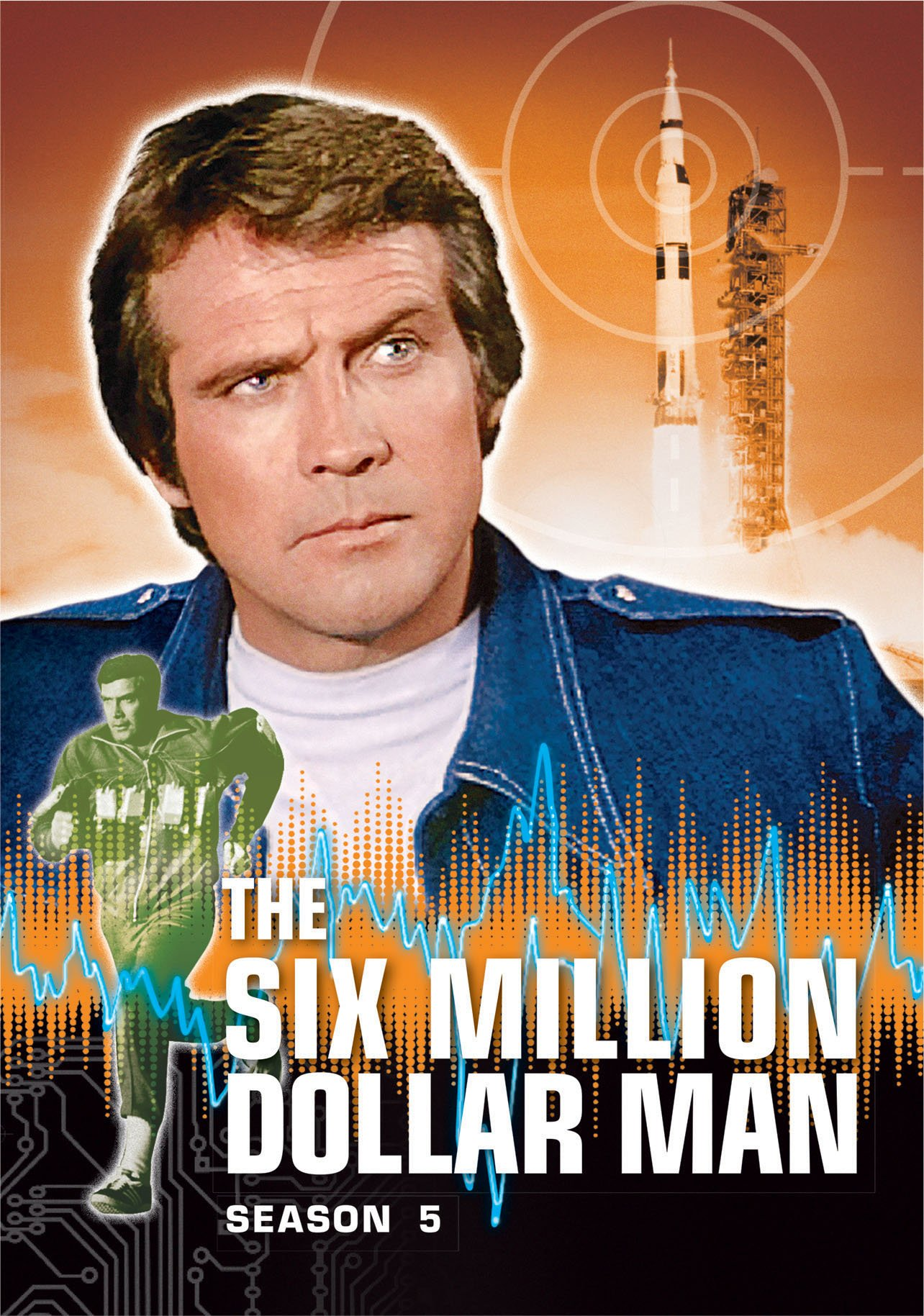 DVD : The Six Million Dollar Man: Season 5 (Boxed Set, Snap Case, 6 Disc)