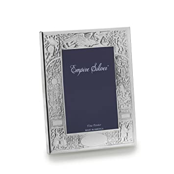 Amazoncom Empire Birth Record Pewter Baby Frame 4 34 Inch By 6