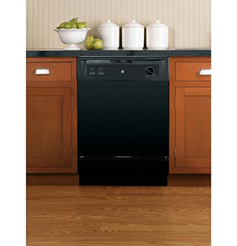 GE GSC3500DBB 24u0026quot; Black Portable Full Console Dishwasher   Energy Star