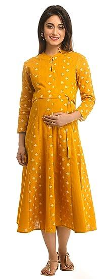 ANAYNA Women's Maternity Dress Kurtas & Kurtis at amazon