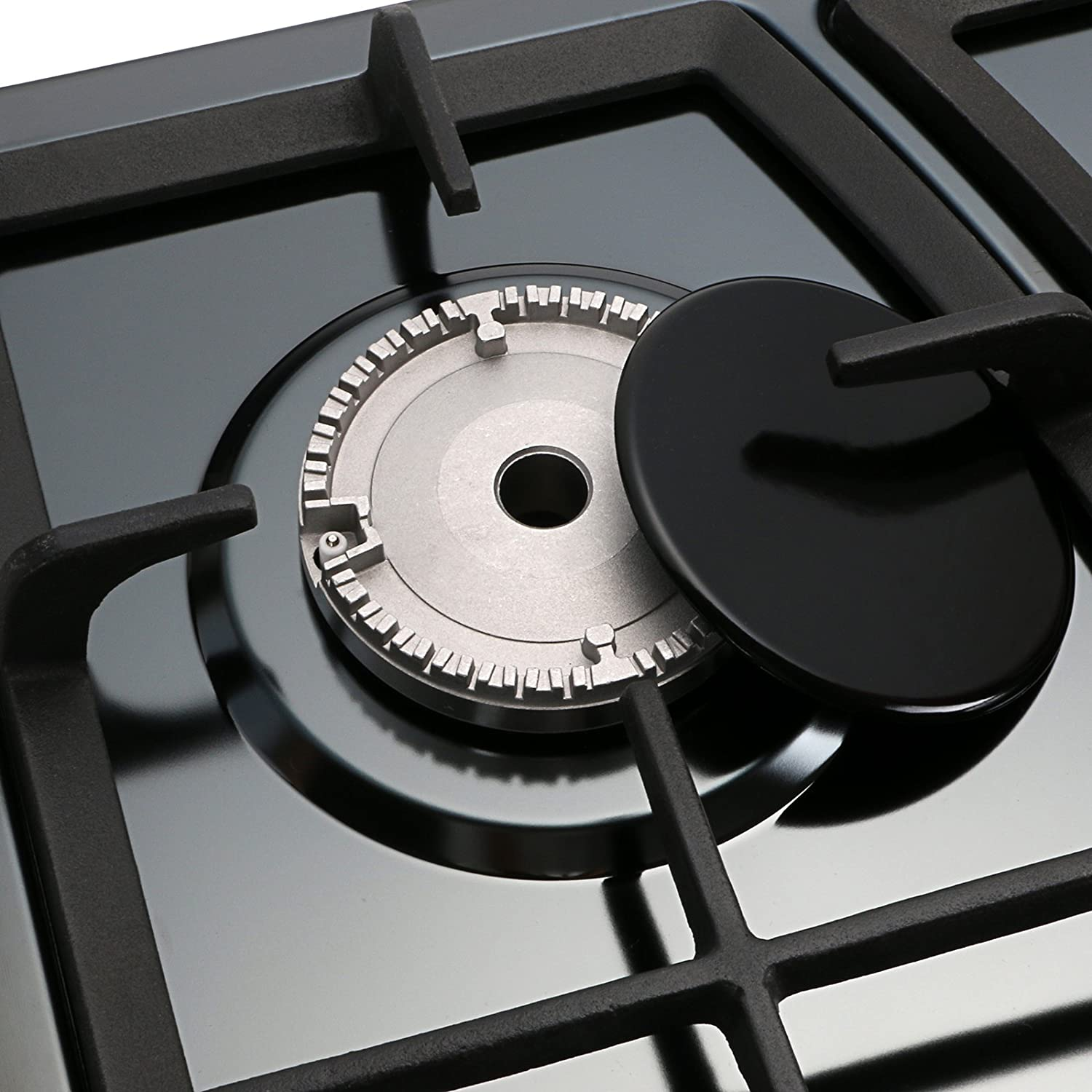 Windmax 30 Inchs Black Titanium Stainless Steel 5 Burners Built-In Stoves NG//LPG Cooktop Cookware