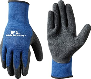 Men's Coated Grip Work Gloves with Latex Coating, Medium (Wells Lamont 524)