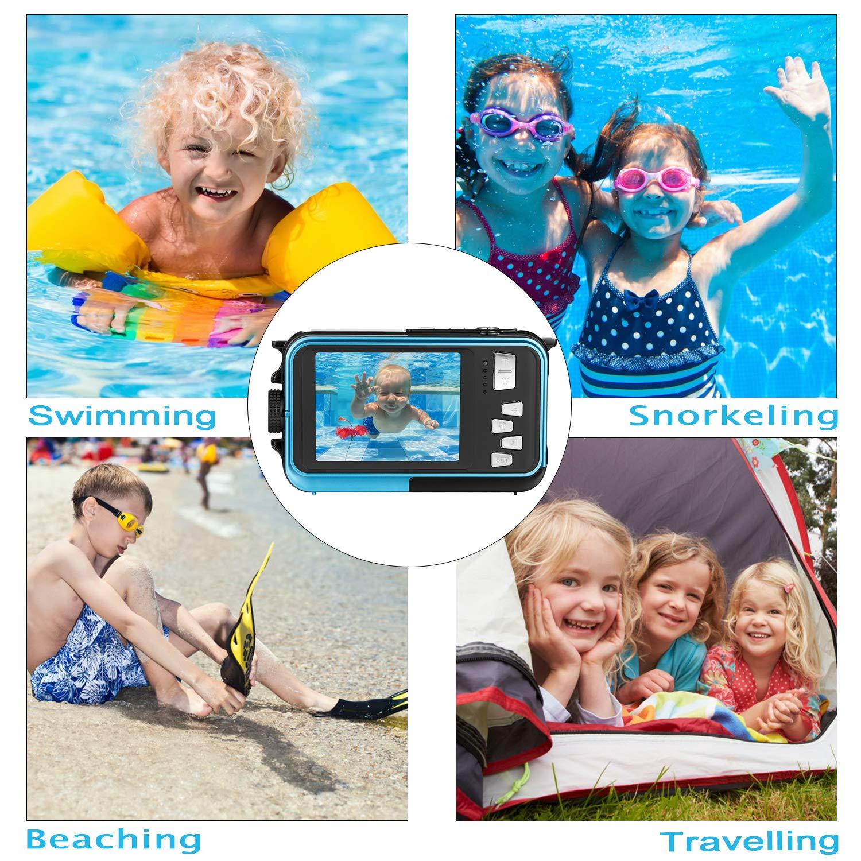 Waterproof Digital Camera Full HD 1080P Underwater Camera 24MP Video Recorder Camcorder Point and Shoot Camera Selfie Dual Screen Waterproof Camera for Snorkeling by HOCOMO (Image #5)