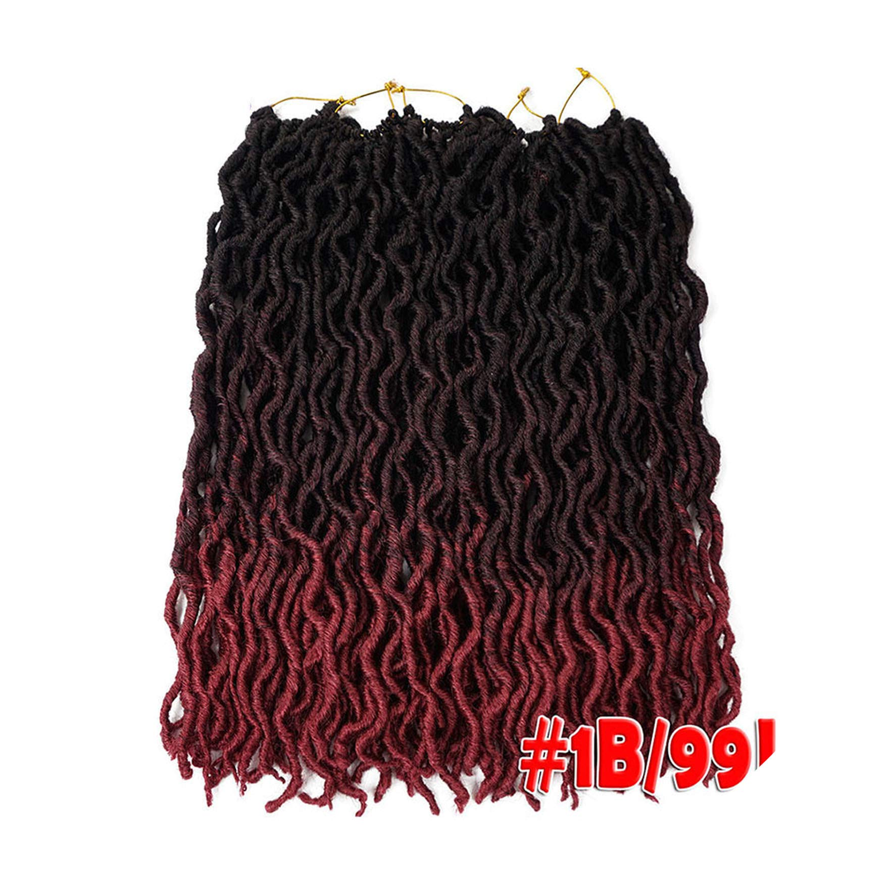 Goddess Faux Locs Crochet Hair 20Inch Soft Natural Synthetic Crochet Braids Hair Extensions Pre Looped Locs Bulk,6/613,20Inches,9 Packs by LQ21