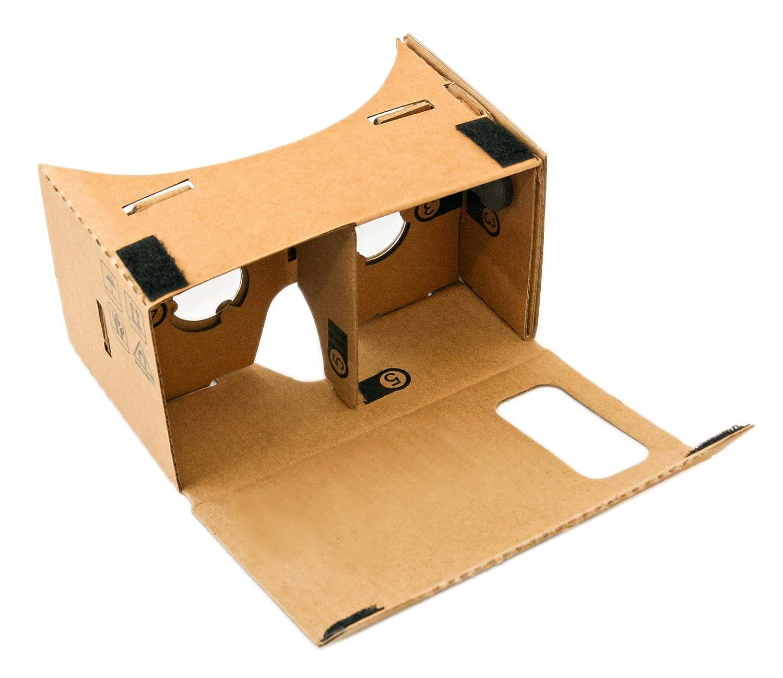 Inspired by Google Cardboard Bikonvexe Linsen nach Originalspezifikation Nasenpolster Virtual Reality VR Brille Virtuelle Realit/ät f/ür Android und iPhone Smartphone Langes Kopfband