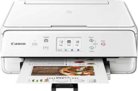 Canon 2986C022 PIXMA TS6220 Wireless All in One Printer with Mobile Printing, White, Amazon Dash Replenishment enabled, One Size, White