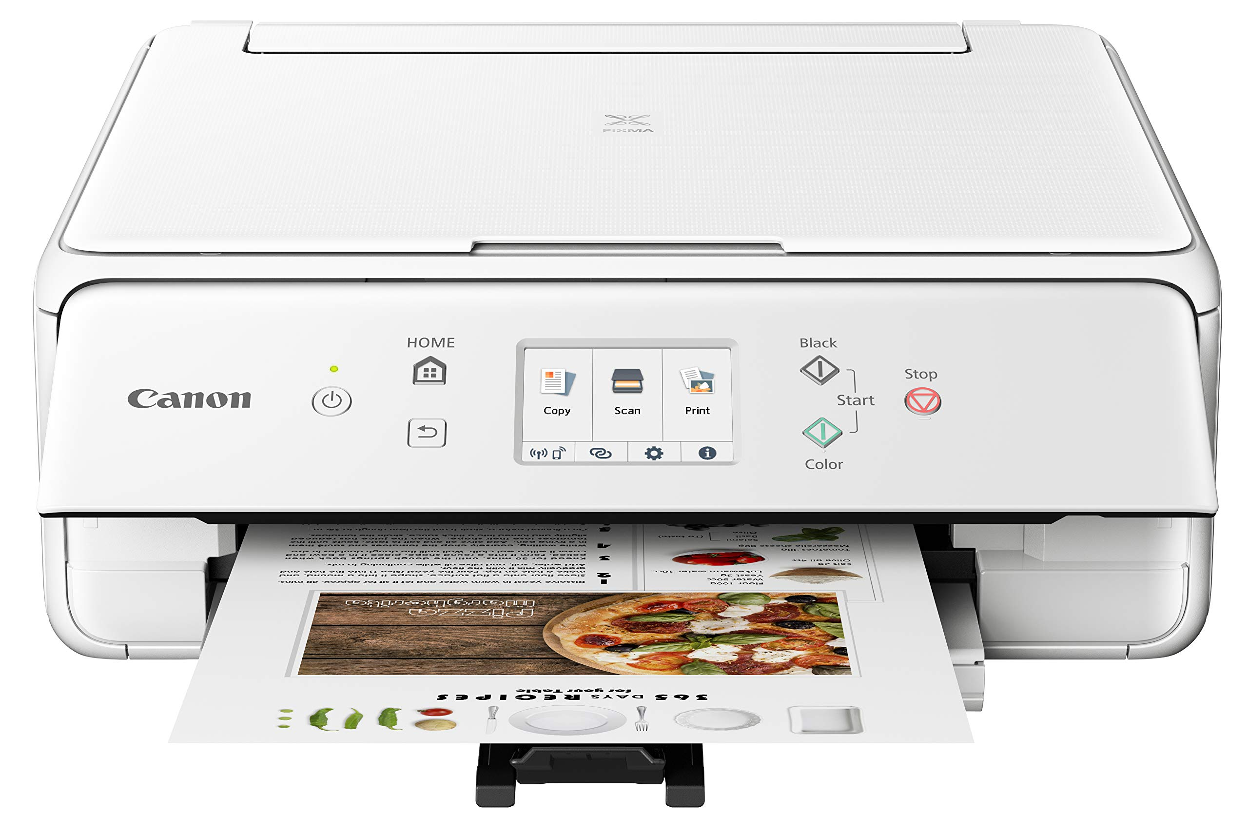 Canon PIXMA TS6220 Wireless All in One Printer with Mobile Printing, White by Canon (Image #1)