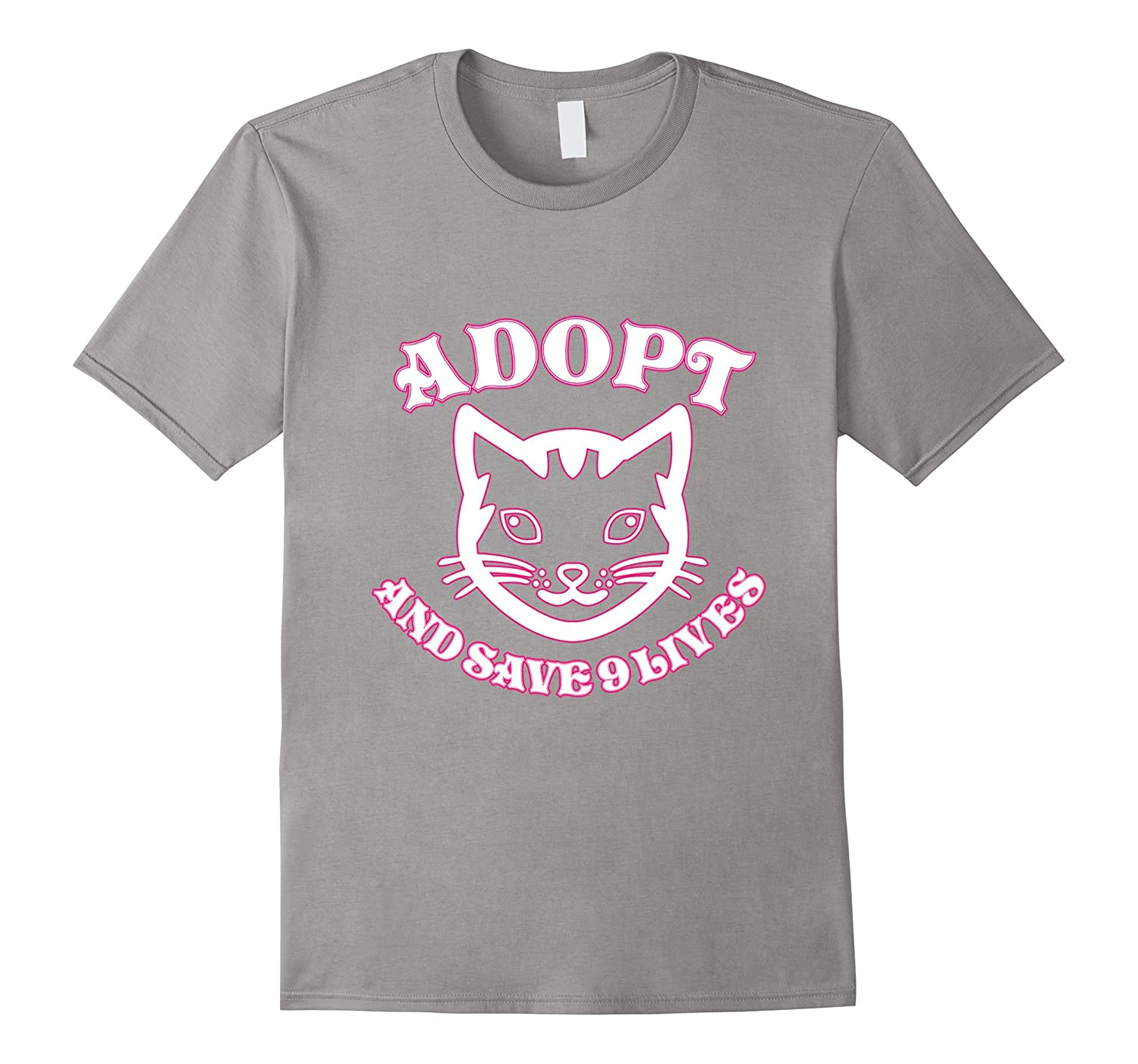 Adopt A Cat And Save 9 Lives T-Shirt-CL