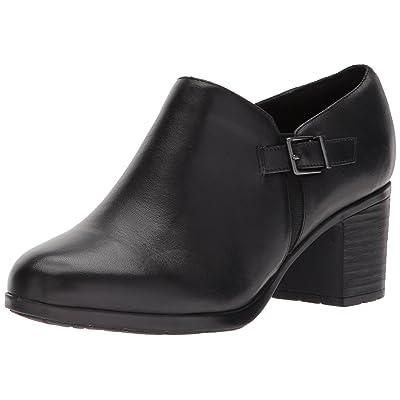 Easy Spirit Women's Batalia Ankle Bootie, Black/Black Leather, 6 W US   Ankle & Bootie