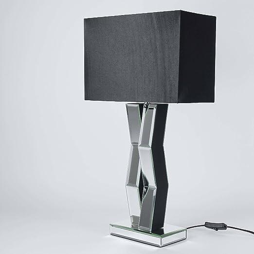 Designer Luce Da Tavolo Con Specchio E Paralume In Tessuto E27 Max 60 Watt Altezza 60cm Lampada Da Soggiorno Lampada Letto Amazon It Illuminazione