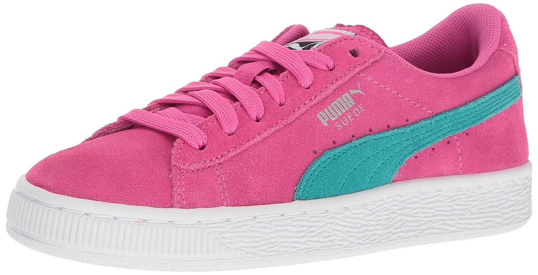 PUMA Kids' Suede Jr Sneaker B01IDA57DI 6.5 M US Big Kid|Shocking Pink-navigate