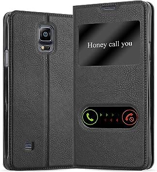 Cadorabo Funda Libro para Samsung Galaxy Note 4 en Negro Cometa: Amazon.es: Electrónica