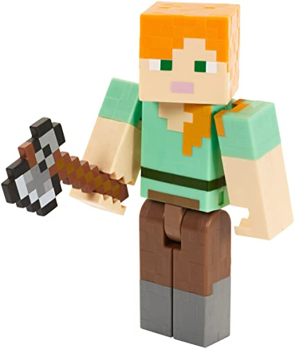 Minecraft Alex Series  Action Figure With Axe