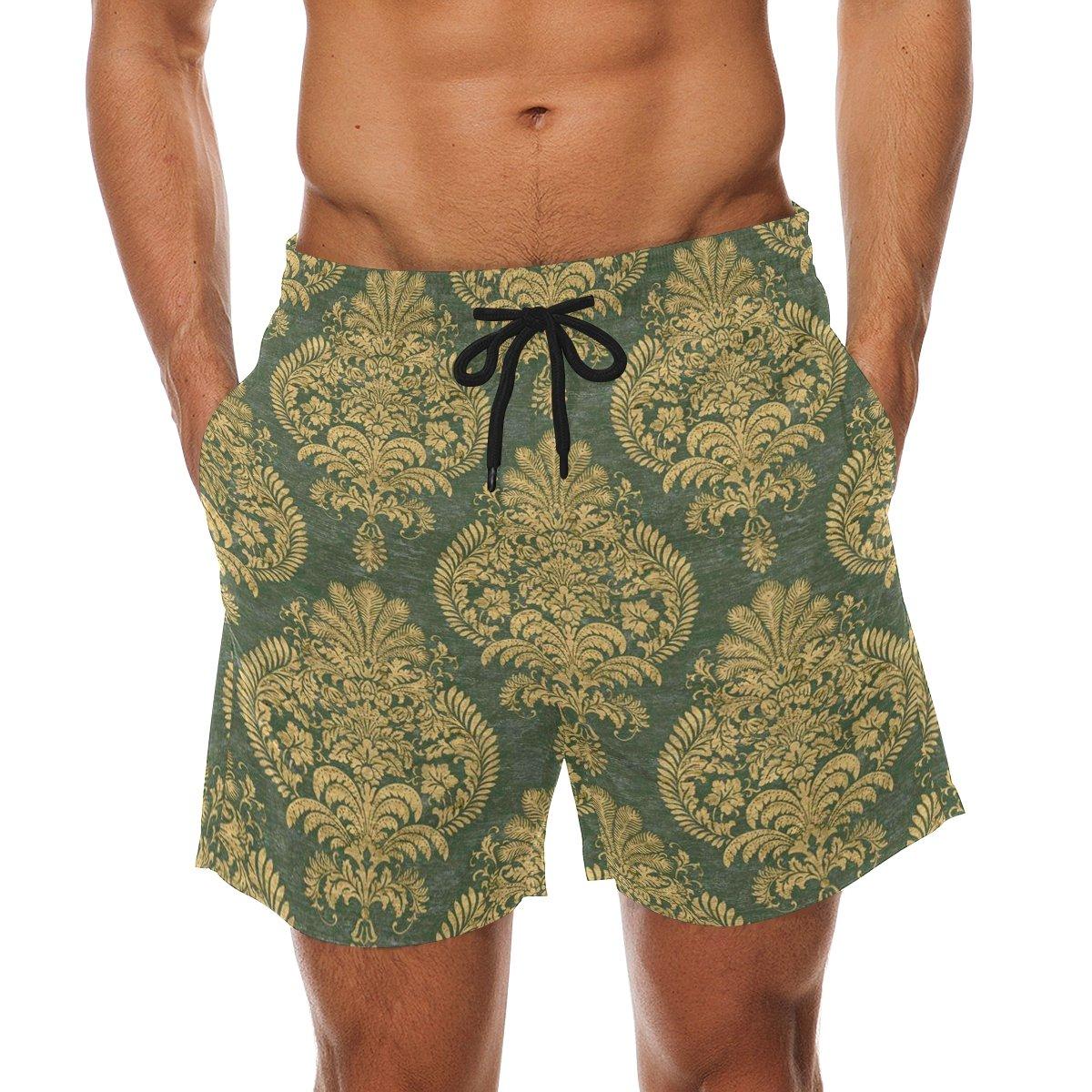 2ad2d3afff DEYYA Men's Beautiful Cloth Surf Swim Trunks Quick Dry Beach Pants Board  Shorts   Amazon.com