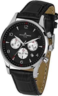 Massiv Herrenuhr Lemans London Lederarmband Edelstahl Jacques dsQCthr