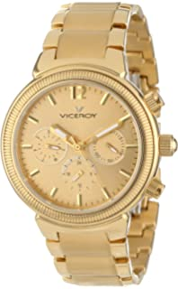 Viceroy Womens 47642-29 Femme Yellow Gold Ion-Plated Stainless Steel Dual Time Watch