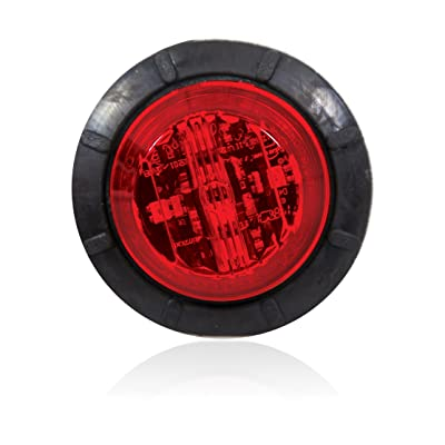 """Maxxima M09410R 6 LED Red 1.25"""" Round Low-Profile P2PC Clearance Marker Light: Automotive"""