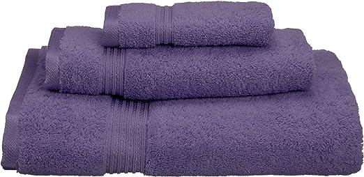 Superior Juego de Toallas de algodón Egipcio de 3 Piezas, Algodón Peinado, Royal Purple, 27 x 41 x 5 cm: Amazon.es: Hogar