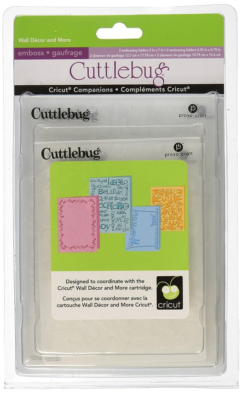 Cuttlebug 2000409 Provo Craft Companion Embossing Folder Bundle, Wall Decor