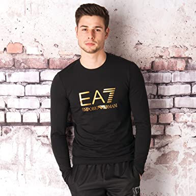 Black EA7 Men/'s Jersey T-Shirt