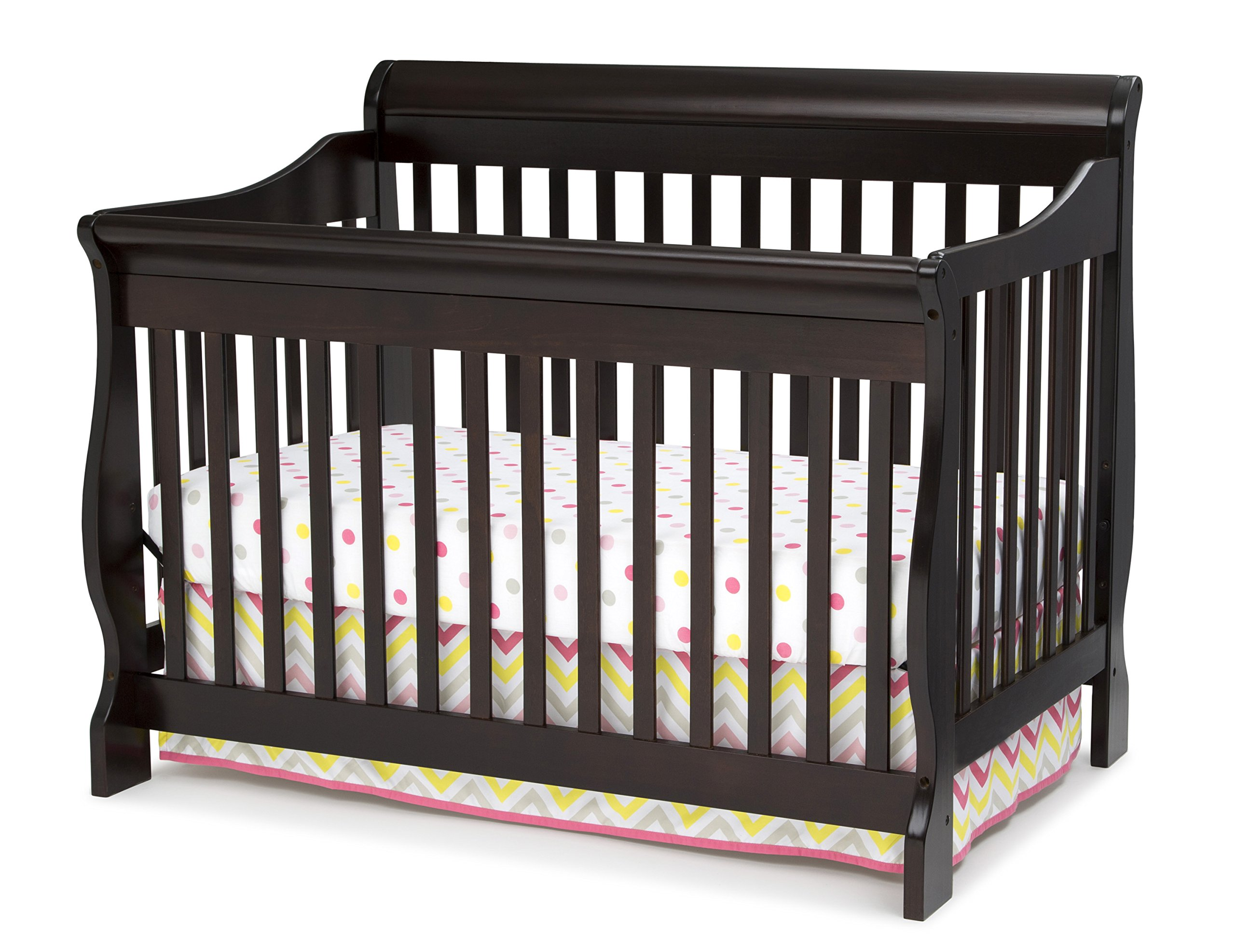 Delta Children Canton 4-in-1 Convertible Crib, Dark Chocolate