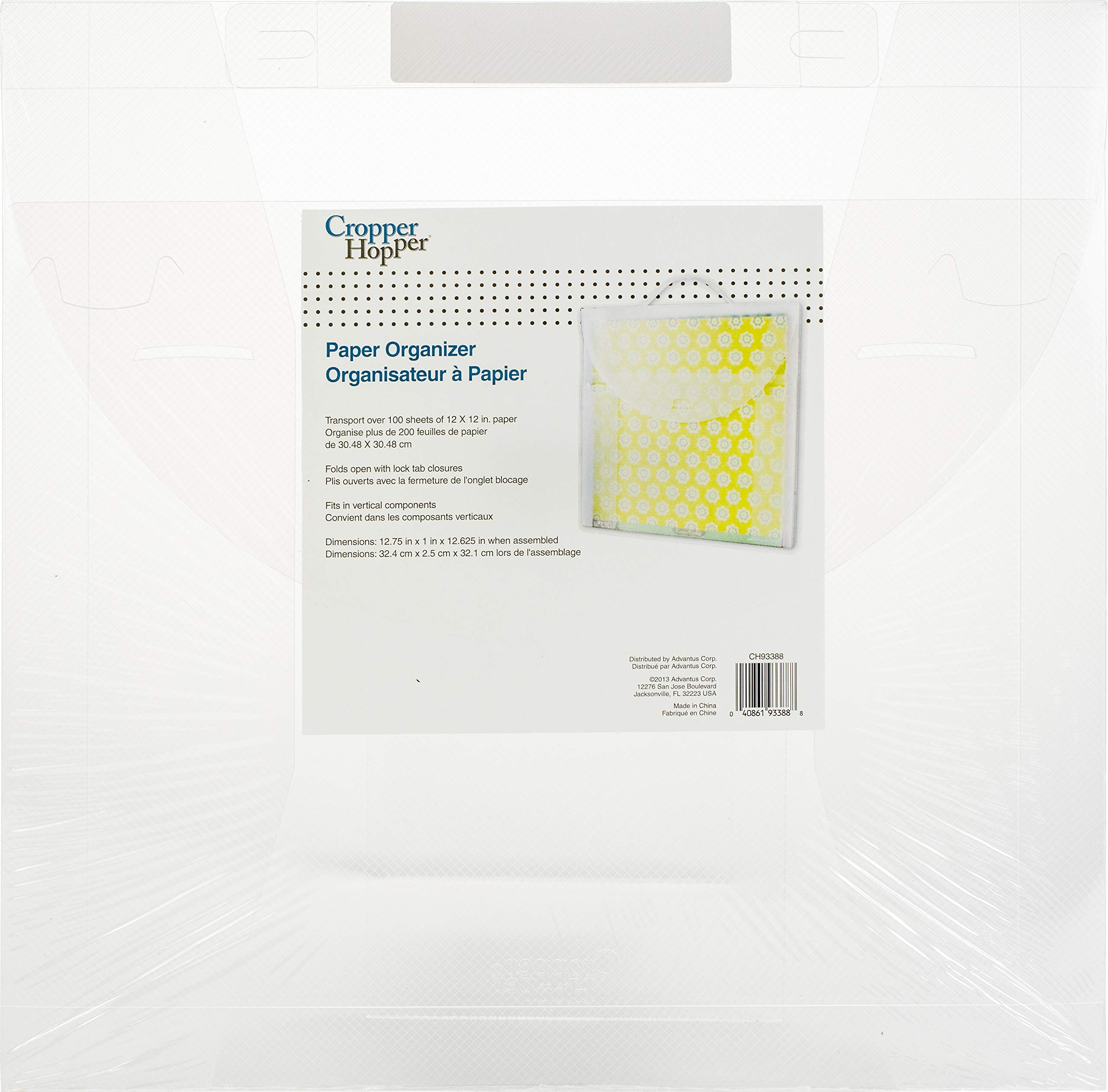 Advantus Corporation 94903 Cropper Hopper Paper Organizer 18/Pkg 12''X12'' Pack