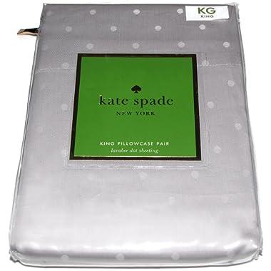 Kate Spade Larabee Dot KING Pillow Cases (2), Gray