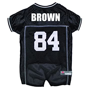 Amazon.com   NFLPA DOG JERSEY - ANTONIO BROWN  84 Pet Jersey - NFL  PITTSBURGH STEELERS Mesh Jersey 7bb73c21b