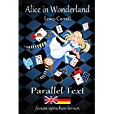 Alice in Wonderland / Alice im Wunderland - Bilingual English German with sentence-by-sentence translation placed directly si