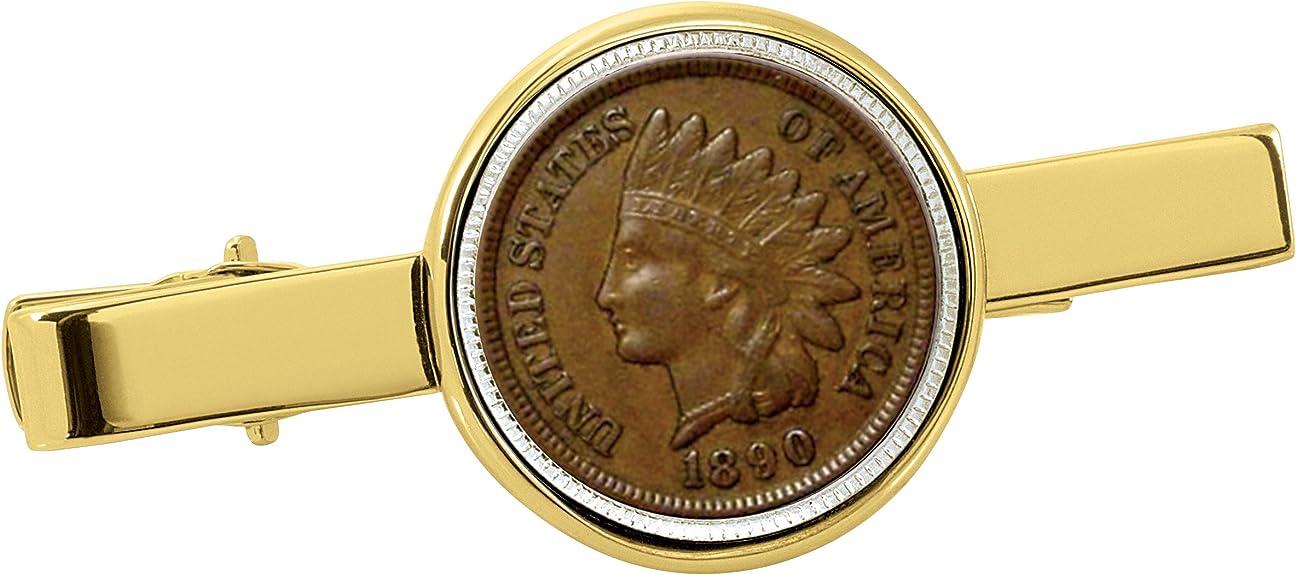 Gorgeous\u00a02-Toned Gold and Silver coin Tie Clip Trinidad /& Tobago Hummingbird\u00a0