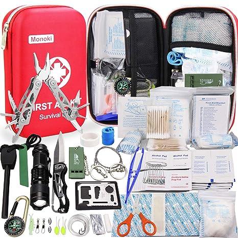 b19b02162 Amazon.com   Monoki First Aid Kit Survival Kit