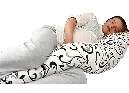 Cojin de lactancia con diseño único 5 en 1: soporte de cuerpo, acurrucarse en un sueño profundo y confortable, soporte para el amamantamiento, cuna de ...